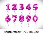raster copy rose number 1  2  3 ... | Shutterstock . vector #730488220