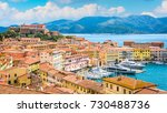 panoramic sight of portoferraio ... | Shutterstock . vector #730488736