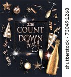 new year eve invitation card... | Shutterstock .eps vector #730491268