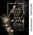 new year eve party invitation... | Shutterstock .eps vector #730491340