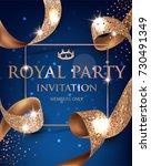elegant blue vip invitation... | Shutterstock .eps vector #730491349