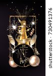 new year eve invitation card... | Shutterstock .eps vector #730491376