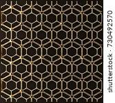 3d render lattice gold | Shutterstock . vector #730492570