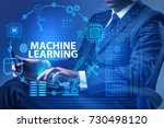 machine learning concept with... | Shutterstock . vector #730498120