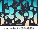 font of numbers in classical... | Shutterstock . vector #730498159