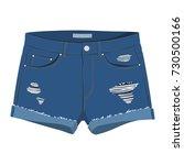 denim shorts | Shutterstock .eps vector #730500166