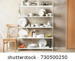 storage stand with white...   Shutterstock . vector #730500250