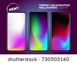 trendy holographic wallpaper... | Shutterstock .eps vector #730503160