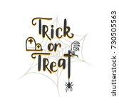 trick or treat lettering.... | Shutterstock .eps vector #730505563