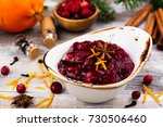 cranberry sauce with... | Shutterstock . vector #730506460