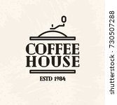 coffee house logo line style... | Shutterstock .eps vector #730507288