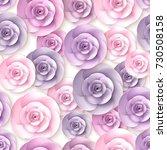 roses flowers seamless pattern ...   Shutterstock . vector #730508158