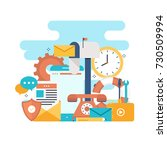 customer service  customer... | Shutterstock .eps vector #730509994