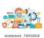 customer service  customer... | Shutterstock .eps vector #730510018