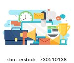 business workspace  office... | Shutterstock .eps vector #730510138