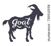 grunge textured goat silhouette ... | Shutterstock .eps vector #730510558