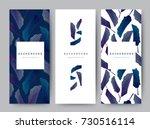 Branding Packaging leaf nature background, logo banner voucher, spring summer tropical, vector illustration   Shutterstock vector #730516114