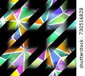 seamless geometric pattern.... | Shutterstock .eps vector #730516828