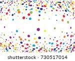 festive colorful hexagon... | Shutterstock .eps vector #730517014