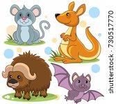 a set of cartoon animal...   Shutterstock .eps vector #730517770