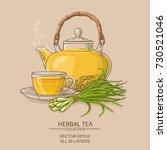 lemongrass tea illustration   Shutterstock .eps vector #730521046