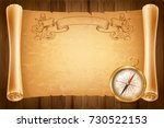 vintage or retro style compass... | Shutterstock .eps vector #730522153