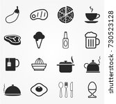food icon set | Shutterstock .eps vector #730523128