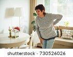 mature woman suffering from...   Shutterstock . vector #730526026