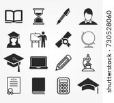 education icons vector | Shutterstock .eps vector #730528060
