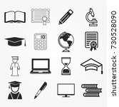education icons | Shutterstock .eps vector #730528090