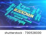 abstract digital blockchain...