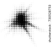 grunge black and white dots... | Shutterstock . vector #730528753