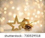 christmas holiday scene with... | Shutterstock . vector #730529518
