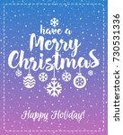 christmas greeting card with...   Shutterstock . vector #730531336