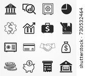banking icons  banking icons... | Shutterstock .eps vector #730532464