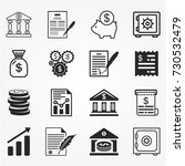 banking icons vector. | Shutterstock .eps vector #730532479