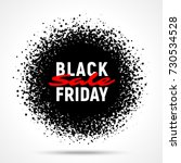 black friday sale circle banner ... | Shutterstock .eps vector #730534528