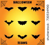 bat icons | Shutterstock .eps vector #730534900