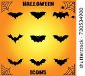 bat icons | Shutterstock .eps vector #730534900
