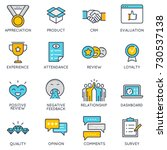 vector flat linear icons... | Shutterstock .eps vector #730537138