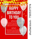 happy birthday vector... | Shutterstock .eps vector #730537576
