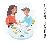 cartoon vector illustration of... | Shutterstock .eps vector #730539979