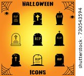 tombstone vector icons. grave... | Shutterstock .eps vector #730543594