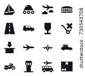 16 vector icon set   boat ... | Shutterstock .eps vector #730543708