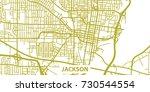 detailed vector map of jackson... | Shutterstock .eps vector #730544554