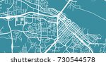 detailed vector map of... | Shutterstock .eps vector #730544578