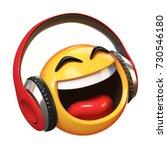 music emoji with headphones... | Shutterstock . vector #730546180
