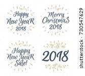christmas greeting label label... | Shutterstock . vector #730547629