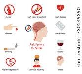 infographics for stroke. stroke ... | Shutterstock .eps vector #730549390