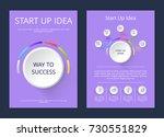 start up idea  way to success ... | Shutterstock .eps vector #730551829